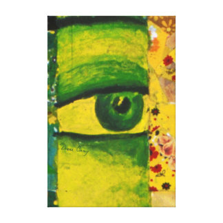 The Eye - Gold & Emerald Awareness Canvas Print