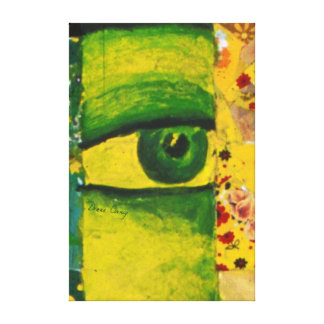 The Eye - Gold & Emerald Awareness Canvas Prints