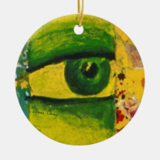 The Eye - Gold & Emerald Awareness Circle Ornament