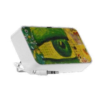 The Eye - Gold & Emerald Awareness Doodle Portable Speaker