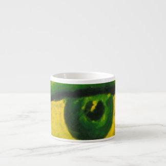 The Eye - Gold & Emerald Awareness Espresso 6 Oz Ceramic Espresso Cup