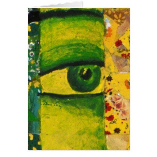 The Eye - Gold & Emerald Awareness Greeting Card V