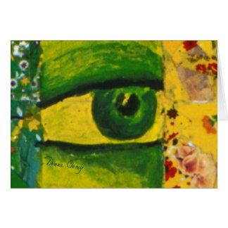 The Eye - Gold & Emerald Awareness H Greeting Card
