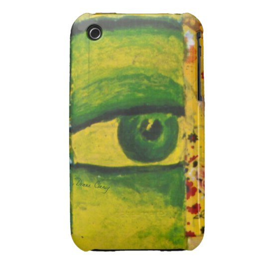 The Eye - Gold & Emerald Awareness iPhone 3 Cover