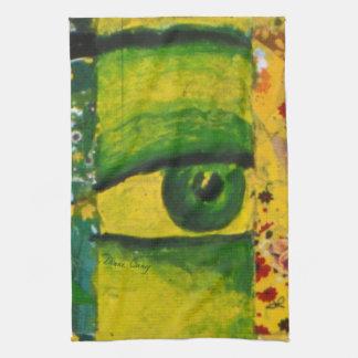 The Eye - Gold & Emerald Awareness Kitchen Towel