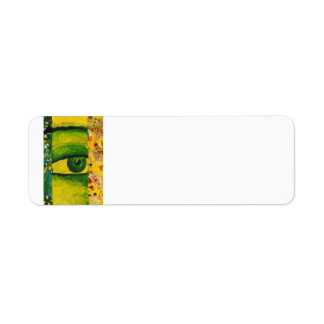 The Eye - Gold & Emerald Awareness Label