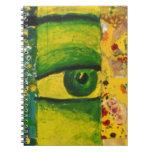 The Eye - Gold & Emerald Awareness Note Book
