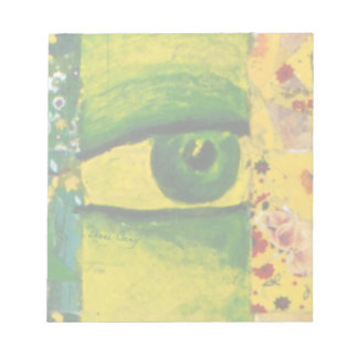 The Eye - Gold & Emerald Awareness Notepad