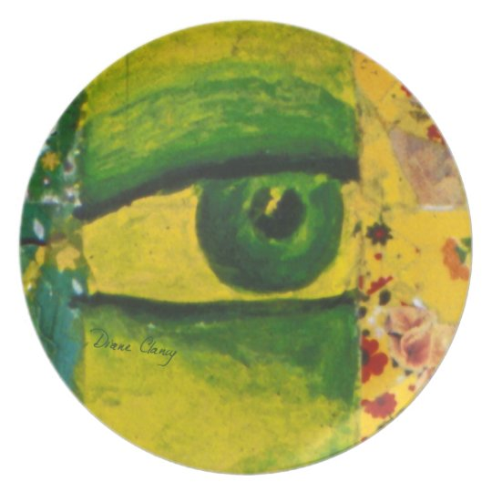 The Eye - Gold & Emerald Awareness Plate