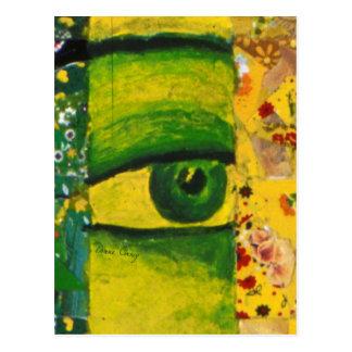 The Eye - Gold & Emerald Awareness Postcard