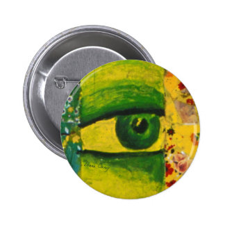 The Eye - Gold Emerald Awareness Round Button