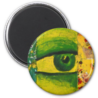 The Eye - Gold & Emerald Awareness Round Magnet