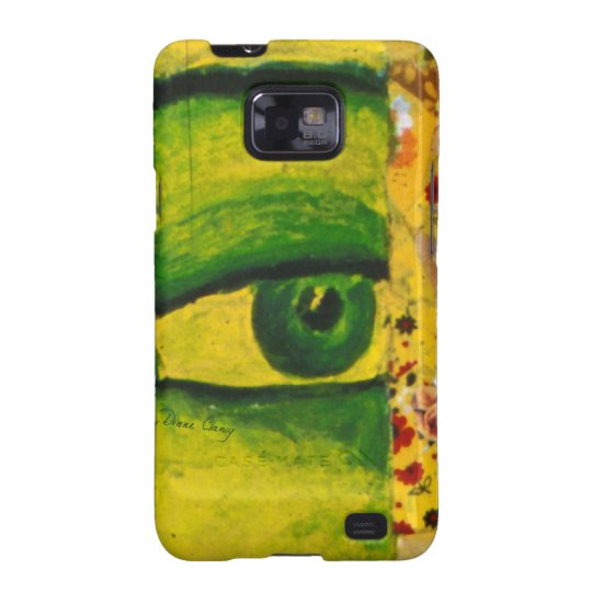 The Eye - Gold & Emerald Awareness Samsung Galaxy SII Case