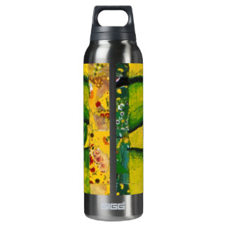 The Eye - Gold & Emerald Awareness 16 Oz Insulated SIGG Thermos Water Bottle
