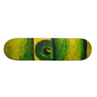 The Eye - Gold & Emerald Awareness Skateboard