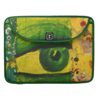The Eye - Gold & Emerald Awareness Sleeve For MacBooks