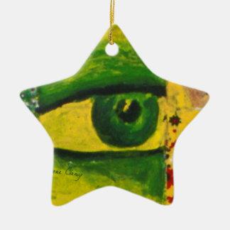 The Eye - Gold & Emerald Awareness Star Ornament
