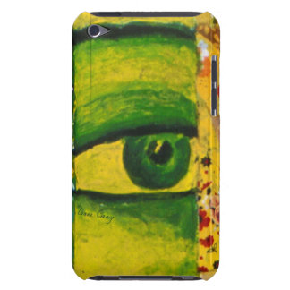 The Eye - Gold & Emerald Barely There III iPod Touch Cases