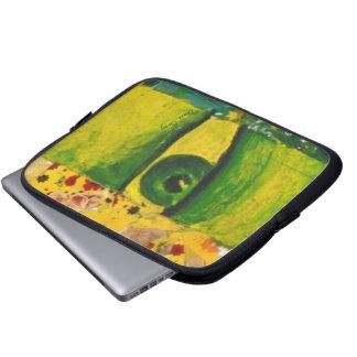 The Eye - Gold & Emerald Laptop Sleeve 10 inch