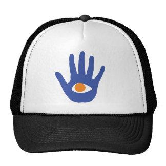 The eye in palm. trucker hat