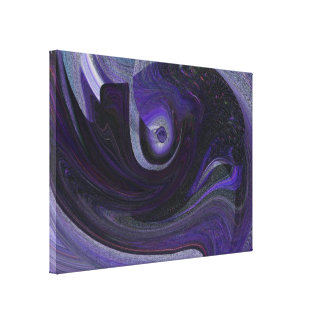 The Eye in the Sky Abstract in Purple Stretched Canvas Print