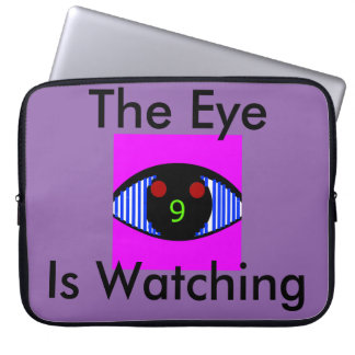 "The Eye Is Watching 15"" laptop sleeve"