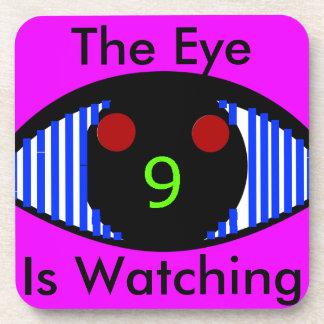 The Eye Is Watching hard plastic coasters