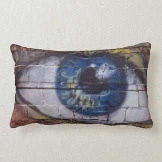 The eye looks - throw pillows