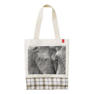 The eye of an elephant zazzle HEART tote bag
