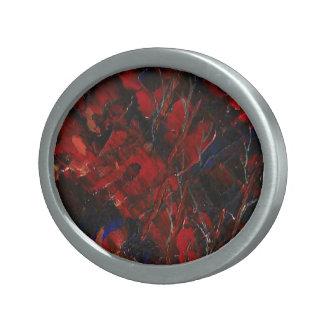 The Eye Of Fire Oval Belt Buckle
