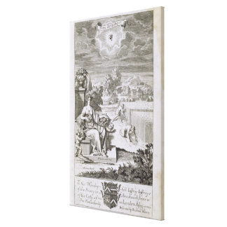 The Eye of God Watches the Harvest, illustration f Canvas Print