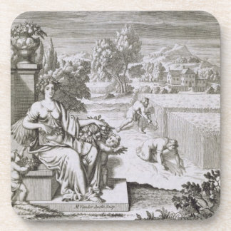The Eye of God Watches the Harvest, illustration f Drink Coaster
