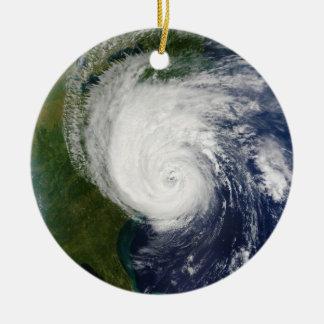The Eye of Hurricane Isabel September 18 2003 Ceramic Ornament