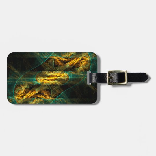 The Eye of the Jungle Abstract Art Bag Tag