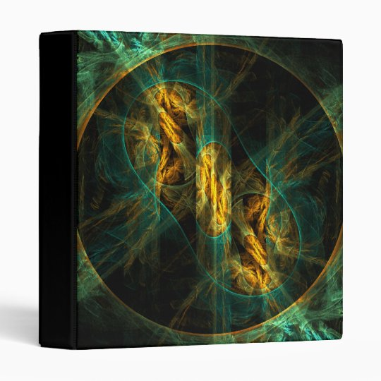 The Eye of the Jungle Abstract Art Binder