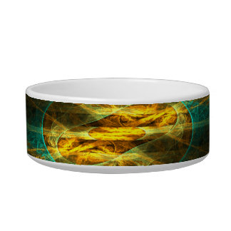 The Eye of the Jungle Abstract Art Cat Bowl