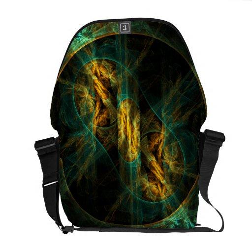 The Eye of the Jungle Abstract Art Messenger Bag