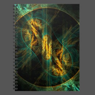 The Eye of the Jungle Abstract Art Notebook