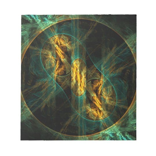 The Eye of the Jungle Abstract Art Notepad