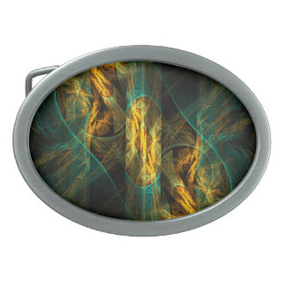 The Eye of the Jungle Abstract Art Oval Belt Buckle