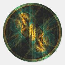 eye, jungle, abstract, art, round, sticker, Sticker with custom graphic design