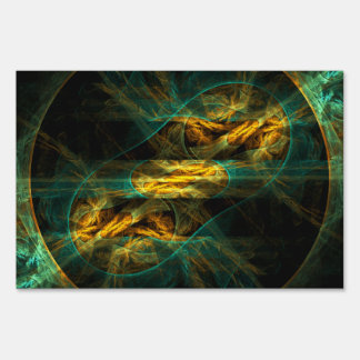 The Eye of the Jungle Abstract Art Sign