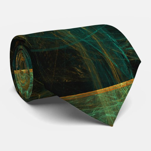 The Eye of the Jungle Abstract Art Tie