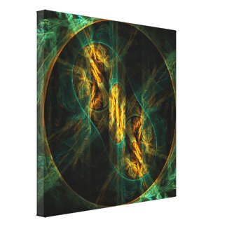 The Eye of the Jungle Abstract Art Wrapped Canvas  Canvas Print