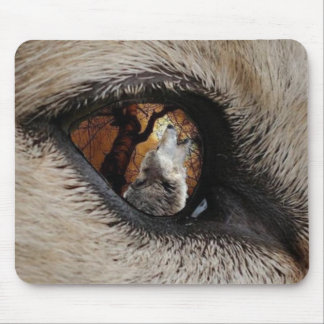 The Eye of The Wolf Mouse Pad