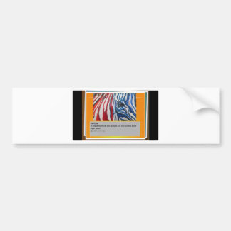 The eye of Zebra Bumper Sticker