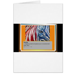 The eye of Zebra Card