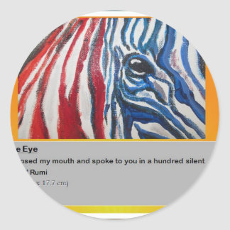 The eye of Zebra Classic Round Sticker