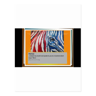 The eye of Zebra Postcard