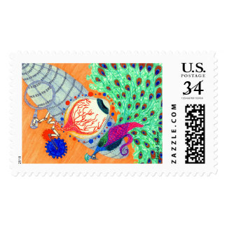 The Eye On The Peacock Postage